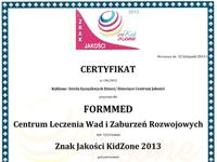 Znak Jakości KidZone 2013