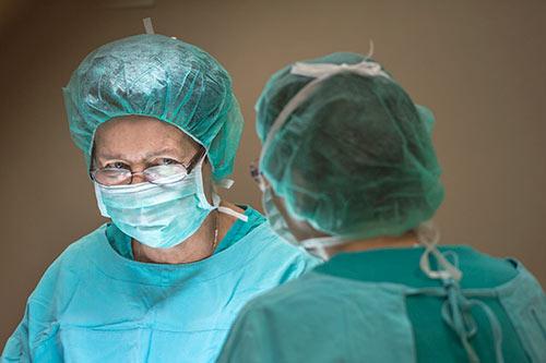 Przepuklina - w trakcie operacji