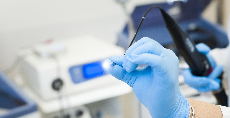 Badanie nasofiberoskopem