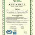 Certyfikat jakości ISO 2015