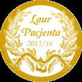 Laur Pacjenta 2016 dla Pani Profesor Zofii Dudkiewicz